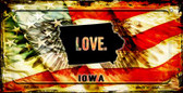 Iowa Love & Wings Wholesale Novelty Bicycle Plate BP-8601