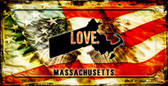 Massachusetts Love & Wings Wholesale Novelty Bicycle Plate BP-8607