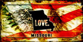 Missouri Love & Wings Wholesale Novelty Bicycle Plate BP-8611