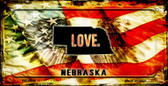 Nebraska Love & Wings Wholesale Novelty Bicycle Plate BP-8613