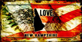 New Hampshire Love & Wings Wholesale Novelty Bicycle Plate BP-8615