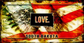 South Dakota Love & Wings Wholesale Novelty Bicycle Plate BP-8627
