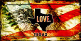Texas Love & Wings Wholesale Novelty Bicycle Plate BP-8629