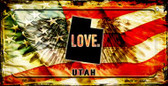 Utah Love & Wings Wholesale Novelty Bicycle Plate BP-8630