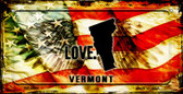 Vermont Love & Wings Wholesale Novelty Bicycle Plate BP-8631
