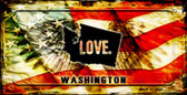 Washington Love & Wings Wholesale Novelty Bicycle Plate BP-8633