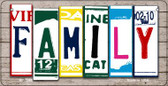 Family Plate Art Wholesale Novelty Bicycle Plate BP-7848