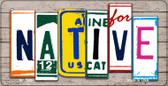 Native Plate Art Wholesale Novelty Bicycle Plate BP-7849
