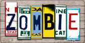 Zombie Plate Art Wholesale Novelty Bicycle Plate BP-7852