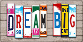 Dream Big Plate Art Wholesale Novelty Bicycle Plate BP-7937