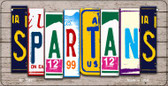 Spartans Plate Art Wholesale Novelty Bicycle Plate BP-7947