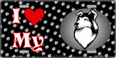 I Love My Collie Wholesale Metal Novelty License Plate LP-3904