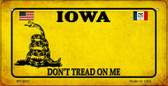 Iowa Do Not Tread Wholesale Novelty Bicycle Plate BP-8847