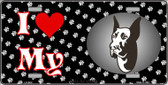 I Love My Great Dane Wholesale Metal Novelty License Plate LP-3910