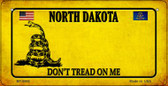 North Dakota Do Not Tread Wholesale Novelty Bicycle Plate BP-8866