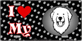 I Love My Great Pyrenees Wholesale Metal Novelty License Plate LP-3911