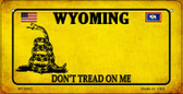 Wyoming Do Not Tread Wholesale Novelty Bicycle Plate BP-8882
