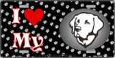I Love My Labrador Retriever Wholesale Metal Novelty License Plate LP-3912