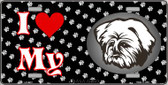 I Love My Lhasa Apso Wholesale Metal Novelty License Plate LP-3913
