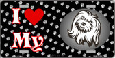 I Love My Maltese Wholesale Metal Novelty License Plate LP-3914