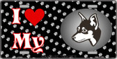 I Love My Miniature Pinscher Wholesale Metal Novelty License Plate LP-3916