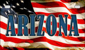 Arizona US Flag Wholesale Novelty Motorcycle Plate MP-3614