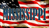 Mississippi US Flag Wholesale Novelty Motorcycle Plate MP-3635