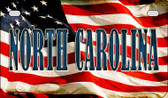 North Carolina US Flag Wholesale Novelty Motorcycle Plate MP-3644