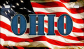 Ohio US Flag Wholesale Novelty Motorcycle Plate MP-3646