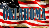 Oklahoma US Flag Wholesale Novelty Motorcycle Plate MP-3647