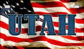 Utah US Flag Wholesale Novelty Motorcycle Plate MP-3655