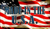 Made In The USA US Flag Wholesale Novelty Motorcycle Plate MP-3663