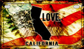 California Love & Wings Wholesale Novelty Motorcycle Plate MP-8591