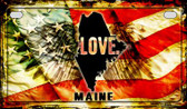 Maine Love & Wings Wholesale Novelty Motorcycle Plate MP-8605
