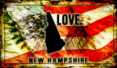 New Hampshire Love & Wings Wholesale Novelty Motorcycle Plate MP-8615