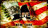 New York Love & Wings Wholesale Novelty Motorcycle Plate MP-8618