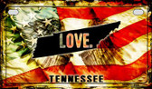Tennessee Love & Wings Wholesale Novelty Motorcycle Plate MP-8628
