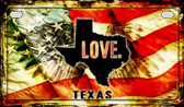 Texas Love & Wings Wholesale Novelty Motorcycle Plate MP-8629