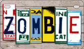 Zombie Plate Art Wholesale Novelty Motorcycle Plate MP-7852