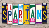 Spartans Plate Art Wholesale Novelty Motorcycle Plate MP-7947