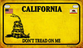 California Do Not Tread Wholesale Novelty Motorcycle Plate MP-8837