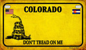 Colorado Do Not Tread Wholesale Novelty Motorcycle Plate MP-8838