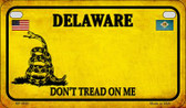 Delaware Do Not Tread Wholesale Novelty Motorcycle Plate MP-8840