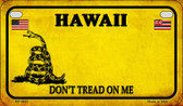 Hawaii Do Not Tread Wholesale Novelty Motorcycle Plate MP-8843
