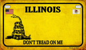 Illinois Do Not Tread Wholesale Novelty Motorcycle Plate MP-8845