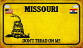 Missouri Do Not Tread Wholesale Novelty Motorcycle Plate MP-8857