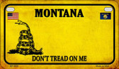 Montana Do Not Tread Wholesale Novelty Motorcycle Plate MP-8858
