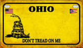 Ohio Do Not Tread Wholesale Novelty Motorcycle Plate MP-8867