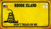 Rhode Island Do Not Tread Wholesale Novelty Motorcycle Plate MP-8871