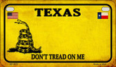 Texas Do Not Tread Wholesale Novelty Motorcycle Plate MP-8875